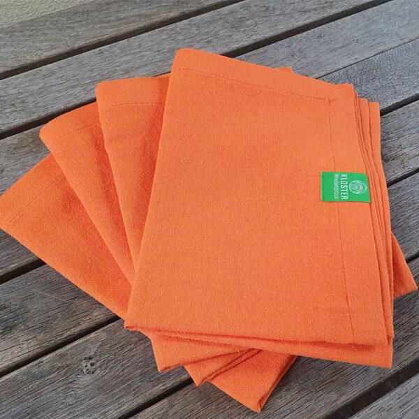 Leinenhandtuch orange 43 x 100 cm