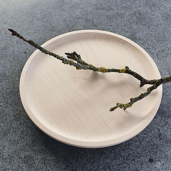 Teller aus Ahornholz, einzeln